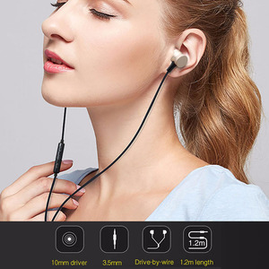Image 3 - Awei ES 70TY In Ear Earphones With Microphone Metal Stereo Headphone Wired Headset Super Bass Earphone for iPhone Samsung Xiaomi
