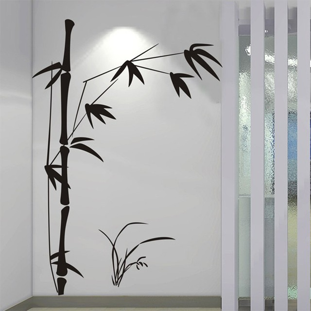 Bamboo Wall Art aliexpress : buy 100*145cm large beautiful bamboo wall sticker