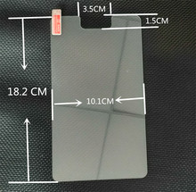 2Pcs/Lot 7 inch Universal Tempered Glass Screen Protector Film For Tablet , Size: 18.2 * 10.1 cm + Alcohol Cloth + Dust Absorber