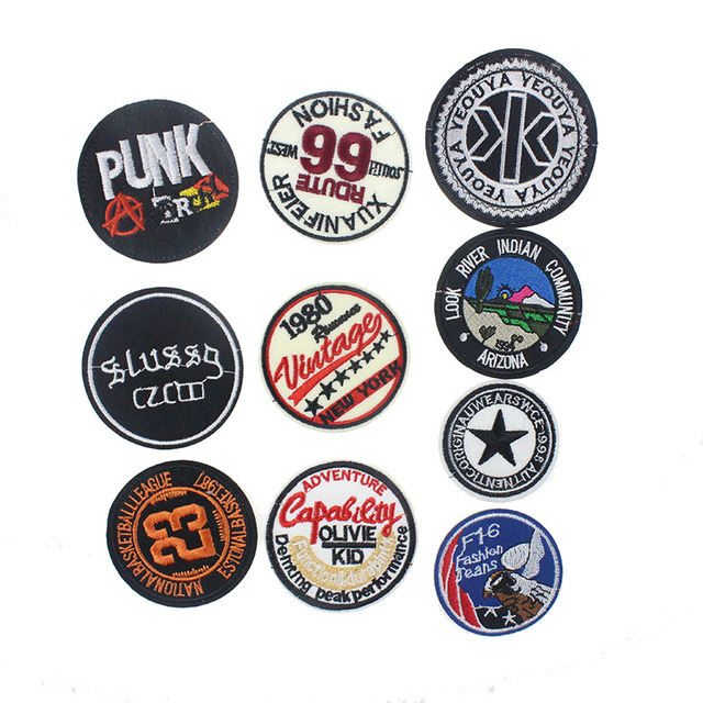 a21815fdc46c 7.4 7.4CM Affordable High Quality Embroidered Patches DIY Apparel  Accessories Clothing For Sticker Clothes 10Colors
