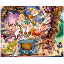 NEW 5D DIY Mosaic Embroidery Seven Dwarfs Diamond Painting Full square Rhinestone cross stitch Needlework fullcang diy full square diamond embroidery who movie characters 5d diamond painting cross stitch 5pcs mosaic needlework d632
