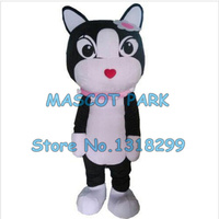 cute cat mascot costume black white cat custom adult size cartoon character cosply carnival costume 3394