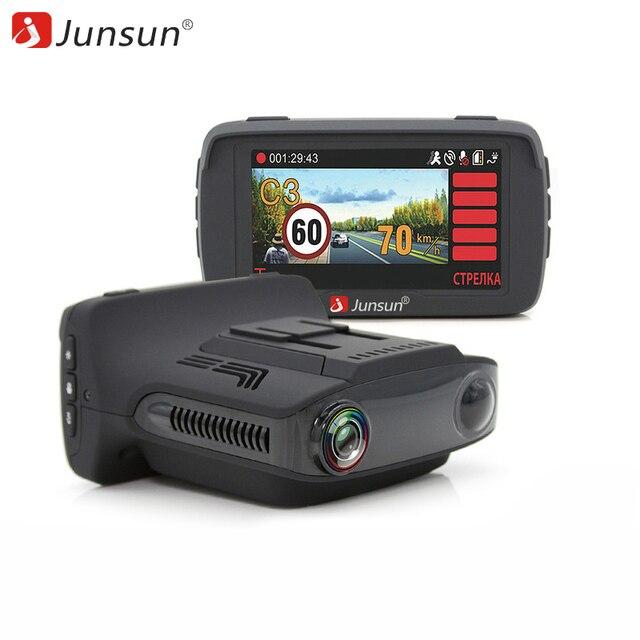 Junsun L2 Автомобильный видеорегистратор 3 в 1 Видеорегистратор Радар детектор и GPS Super HD 1296P Ambarella A7 регистратор базы радар-детектор Обнаружение радаров типа Стрелка Робот Автодория россии радардетектором
