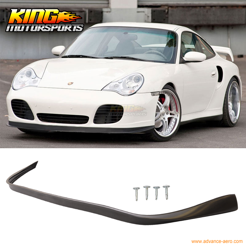 For Porsche 996 911 4S Coupe Turbo OE Style No Hole Carrera Front Bumper Lip Spoiler for porsche 996 911 turbo carrera 4 4s front bumper lip spoiler urethane bodykit global free shipping worldwide