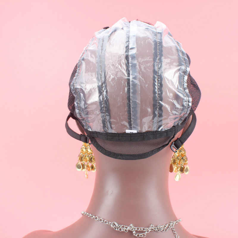 Pequeño/mediano/grande de alta calidad Color negro 1 pc hecho a máquina tapas de peluca sin pegamento para hacer pelucas Judías peluca de red