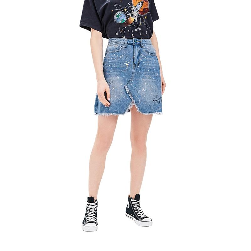 Skirts MODIS M181D00303 women skirt apparel for female TmallFS stylish high waisted solid color bodycon skirt for women