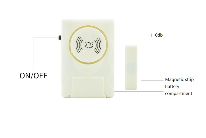 Darho Security 2Pcs110dB Wireless Window Door Burglar Security Alarm System Magnetic Sensor For Home Store Shop Security System 9