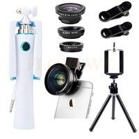 Camera Lens Kit Mini Tripod Ảnh Tự Sướng Thanh HD 0.45X Siêu Wide Angle Ống Kính Macro Fisheye Lentes Cho Samsung Galaxy note 2 3 4 5 7