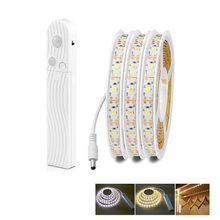 Baterai AAA MOTION SENSOR LED Lampu Strip Fita Tira Tahan Air USB LED Lampu Strip 5V Garland Pita Dioda Pita TV Backlight(China)