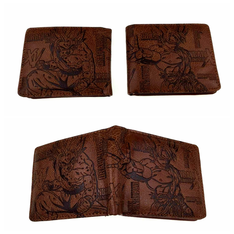 Bifold Wallet Card-Holder Coin-Purse Short Dragon-Ball Anime Super-Saiyan DBZ Men Kakarotto