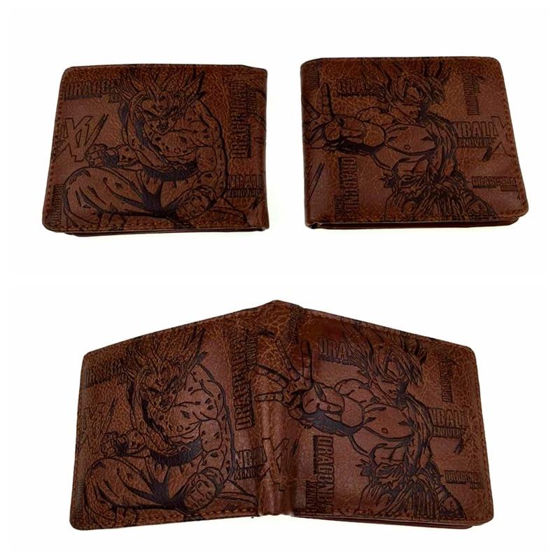 New Anime Dragon Ball Z Bifold Wallet Leather PU Coin Purse DBZ Son Goku Super Saiyan Kakarotto Men Short Wallets Card Holder