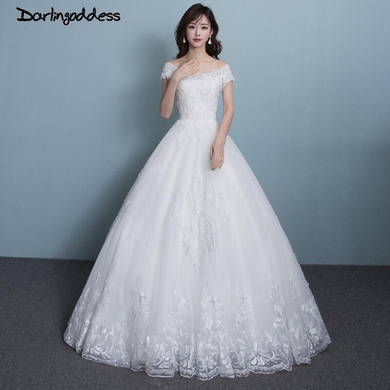 174 41 Image Reelle Pas Cher Dentelle Robes De Mariee Simple Blanc Robe De Bal Perles Faites En Chine Grande Taille Robe De Mariee Robe De Mariage