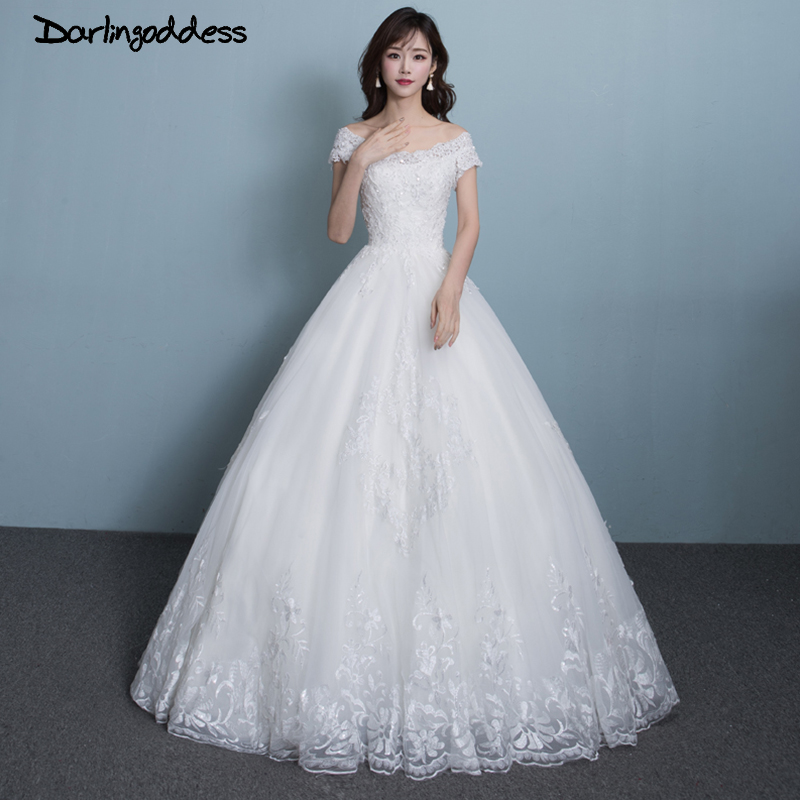 Real Picture Cheap Lace Wedding Dresses Simple White Ball