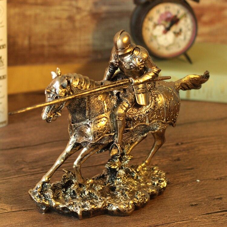 Ancient Greek/Roman Warrior Armor OnHorseback Polyresin Model Creative Home Decration Aircraft