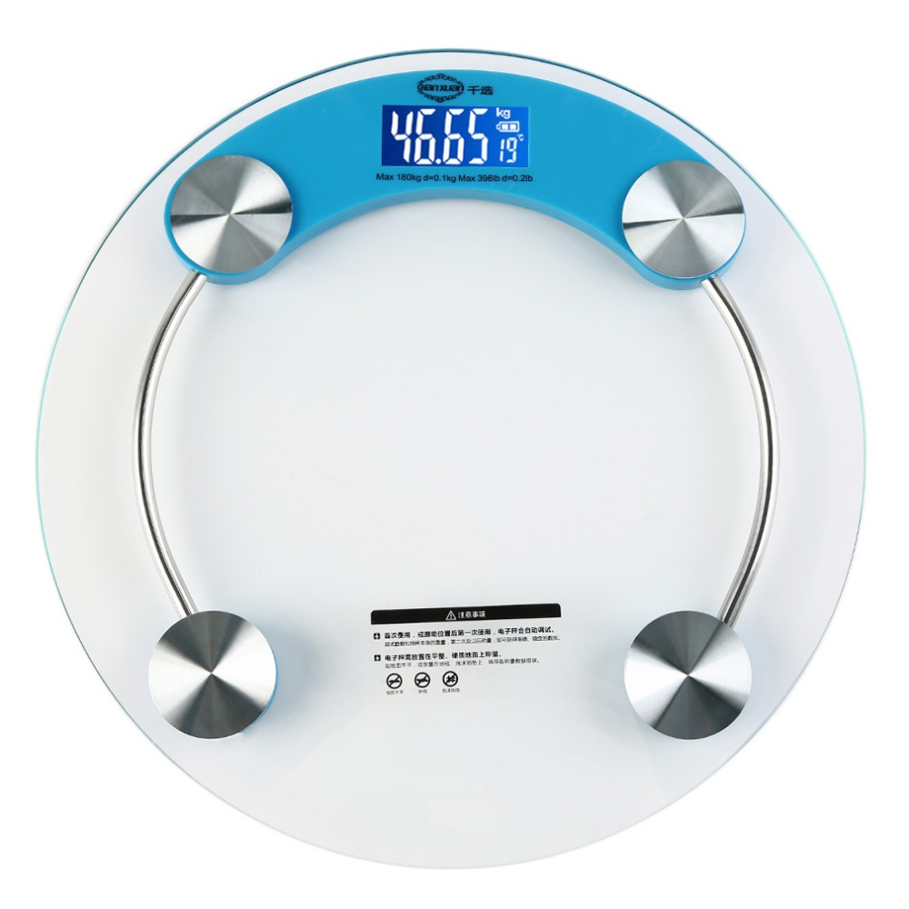 1Pc Digital Personal Weight Scale Glass Electronic Bathroom Body Weighing  Scale Stock Offer(China (
