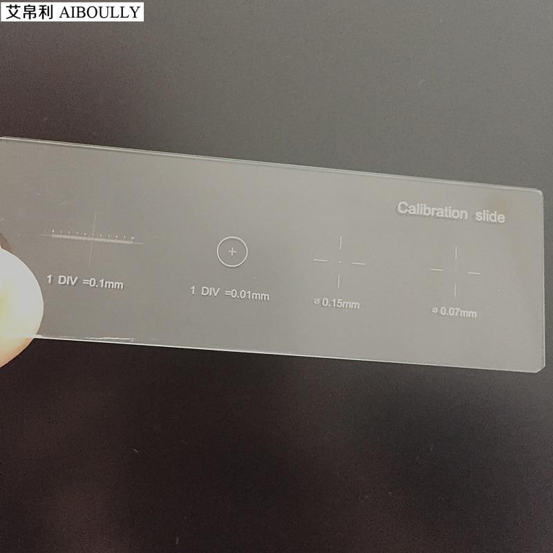 Microscope Scale Ruler 0.01mm Calibration Slide 0.01mm Ruler Microscope Measurement Objective Lens Ruler Slide Measurement scale ruler mapping measurement of office stationery 15 20 30cm aluminium alloy ruler steel cutting ruler