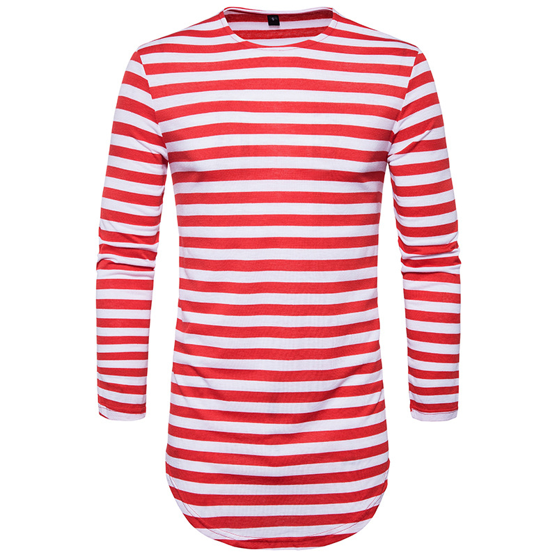 2017 Red Striped T Shirt Wholesale Fashion Brand Summer