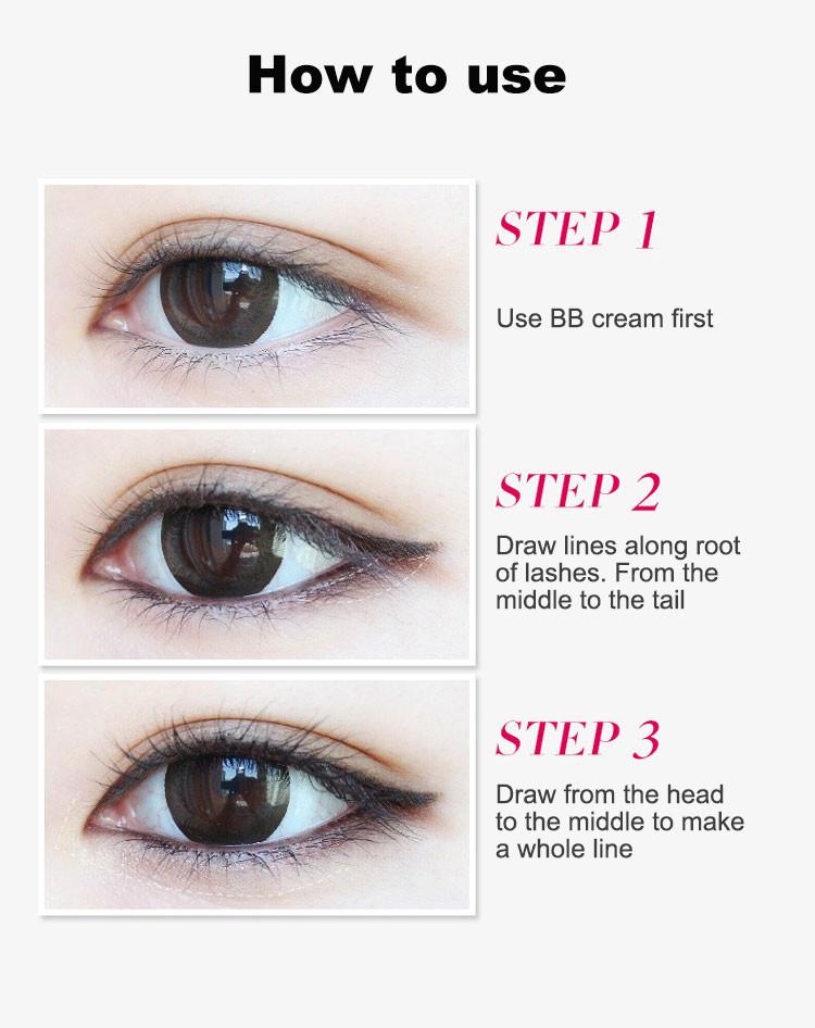 Music Flower 2 in 1 Coffee + Black Gel Eyeliner Make Up Waterproof Eye Liner Cosmetics Set Eyeliner Pens Makeup Brushes Set (14)