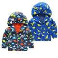 Cartoon Dinosaur Bomber Jackets Boys Coats Causal Hooded Jackets For Baby Boys Outerwears 1-5Y Children's Jackets Autumn SC412