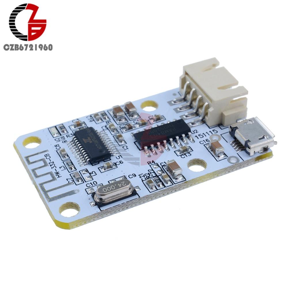 Wireless Bluetooth 4.0 Stereo Digital Audio Amplifier Receiver Module Sound Loud Board Micro USB 3W+3W DC 5V for Arduino