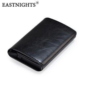 EASTNIGHTS Aluminium Wallet Card-Holder Business-Card-Case Metal-Bank Rfid Automatic