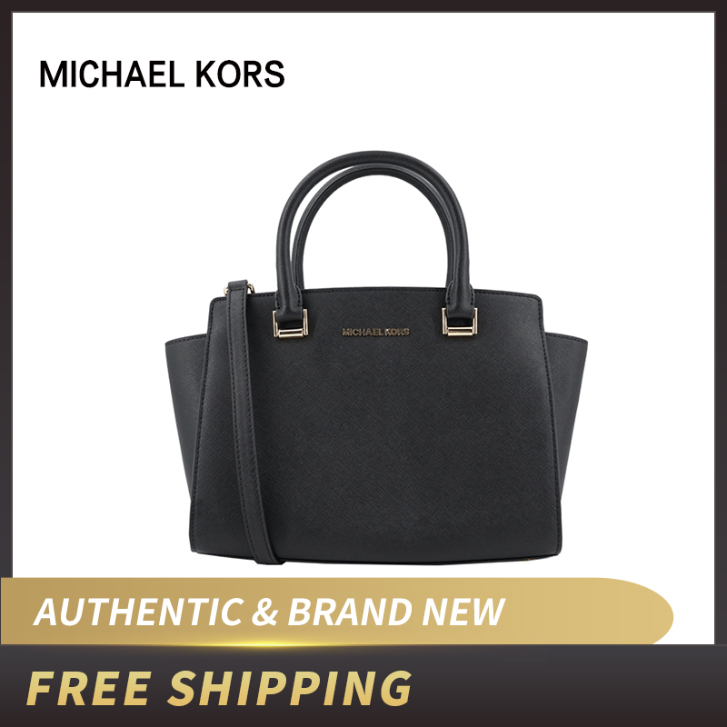 Michael Kors Selma Medium Satchel Saffiano Leather Bag 35H8GLMS2L