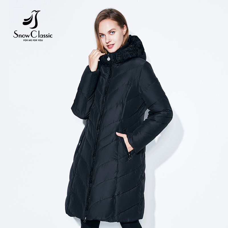 SnowClassic Winter Jacket Women Thick Coats Big Size 6xl Female Warm Parka Thick Cotton Outwear lace