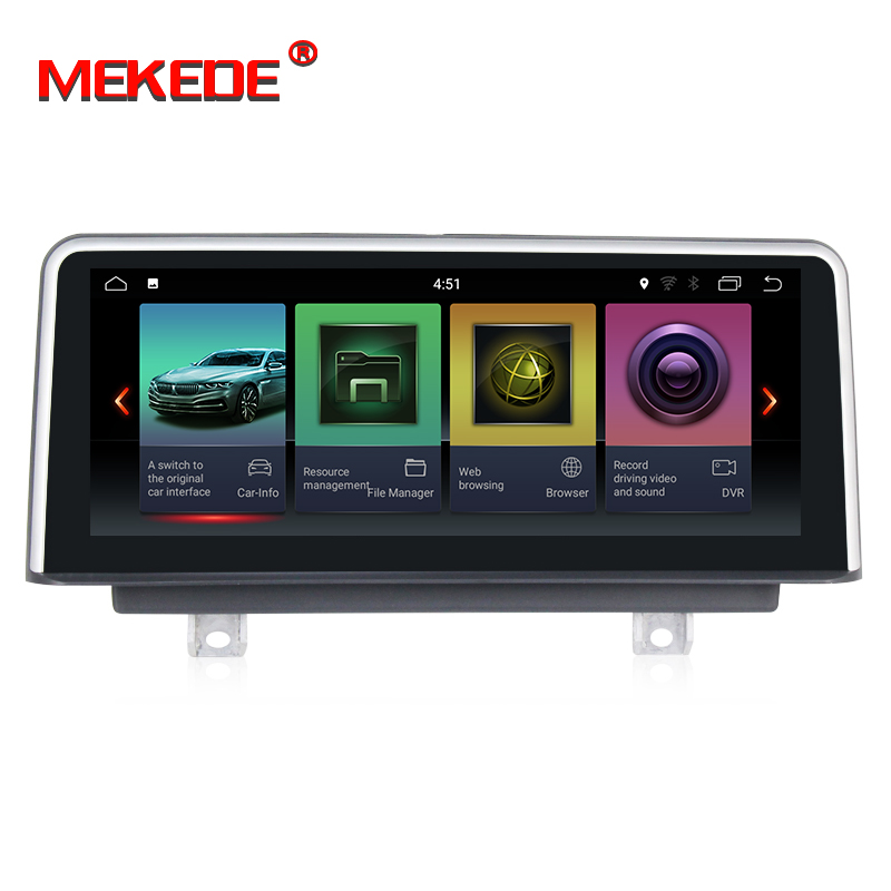 MEKEDE 2 tela 10.25 ''IPS G + 32 GB android 7.1 Multimídia Carro DVD player para BMW 3 Series f30/F31/F34 320 4 Série F32/F33/F36 NBT