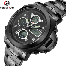 2017 Fashion Stainless Steel Mens Watches Top Brand Luxury Military Men's Sport Watch Casual Watches Quartz Watch Relogio Male