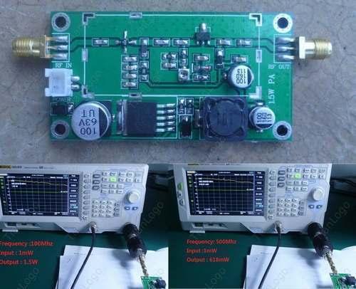 RF 20--500MHZ 1.5 W amplificateur de puissance HF VHF UHF transmetteur FM pour Radio jambonRF 20--500MHZ 1.5 W amplificateur de puissance HF VHF UHF transmetteur FM pour Radio jambon