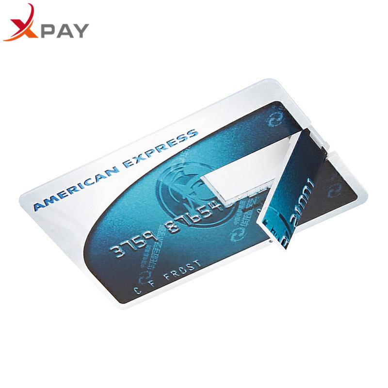 Image 3 - Wholesale Credit Card USB Flash 128GB USB 2.0 flash stick 32GB Pendrive memory stick 64GB real capacity 4GB 8GB 16GB free LOGO-in USB Flash Drives from Computer & Office