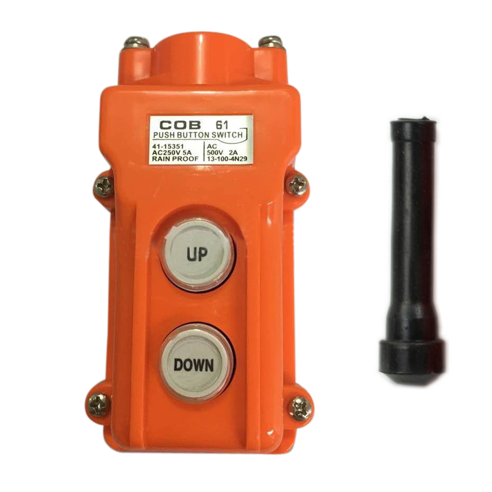 цены  Rainproof Hoist Crane Pendant Controller Push button Switch Up-Down Station Heavy Duty+Black Rod