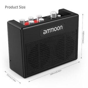 Image 4 - Ammoon POCKAMP gitar amplifikatörü Dahili Çok etkili 80 Davul Ritimleri Desteği Tuner Dokunun Tempo Fonksiyonu ile Güç Adaptörü