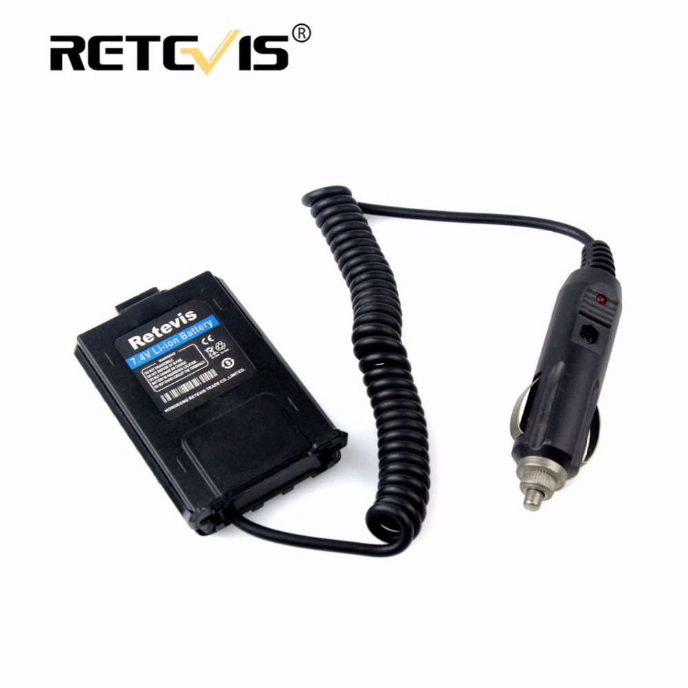 DC 12V Car/Vehicle Charger Battery Eliminator For Baofeng UV-5R UV5R Retevis RT-5R RT5R Walkie Talkie Accessories C9011A