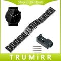 Cheio de cerâmica relógio banda 20mm para moto 360 2 42mm homens samsung engrenagem s2 clássico r732 & r735 butterfly buckle strap pulseira + ferramentas