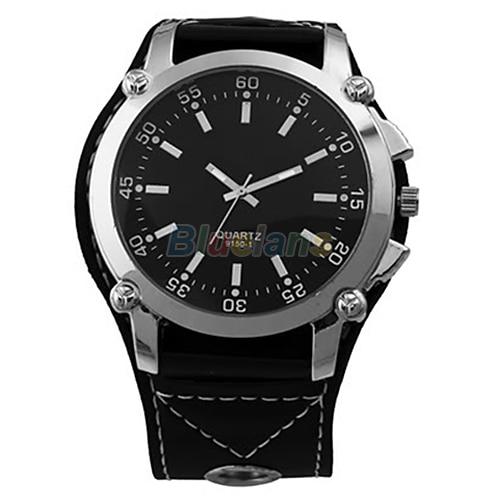 Min. 16   Luminous Men Watches Male Faux Leather Oversized Quartz Hands Wrist Watch Vintage Style Wristwatch 0256 3V3V питер 978 5 4461 0256 3