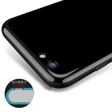 Jet Black Для iPhone 7 Футляр: Мягкий Глянцевый Силикон Для iPhone 6 s 7 Плюс 5S SE Защитный Футляр Телефон Обложка Противоударный Капа Funda