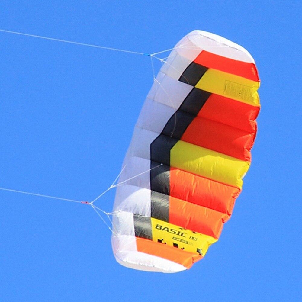 Cerf-volant électrique double ligne 0.6sqm cerf-volant de Sport de plein air volant avec chaîne de sangle pour les enfants débutants
