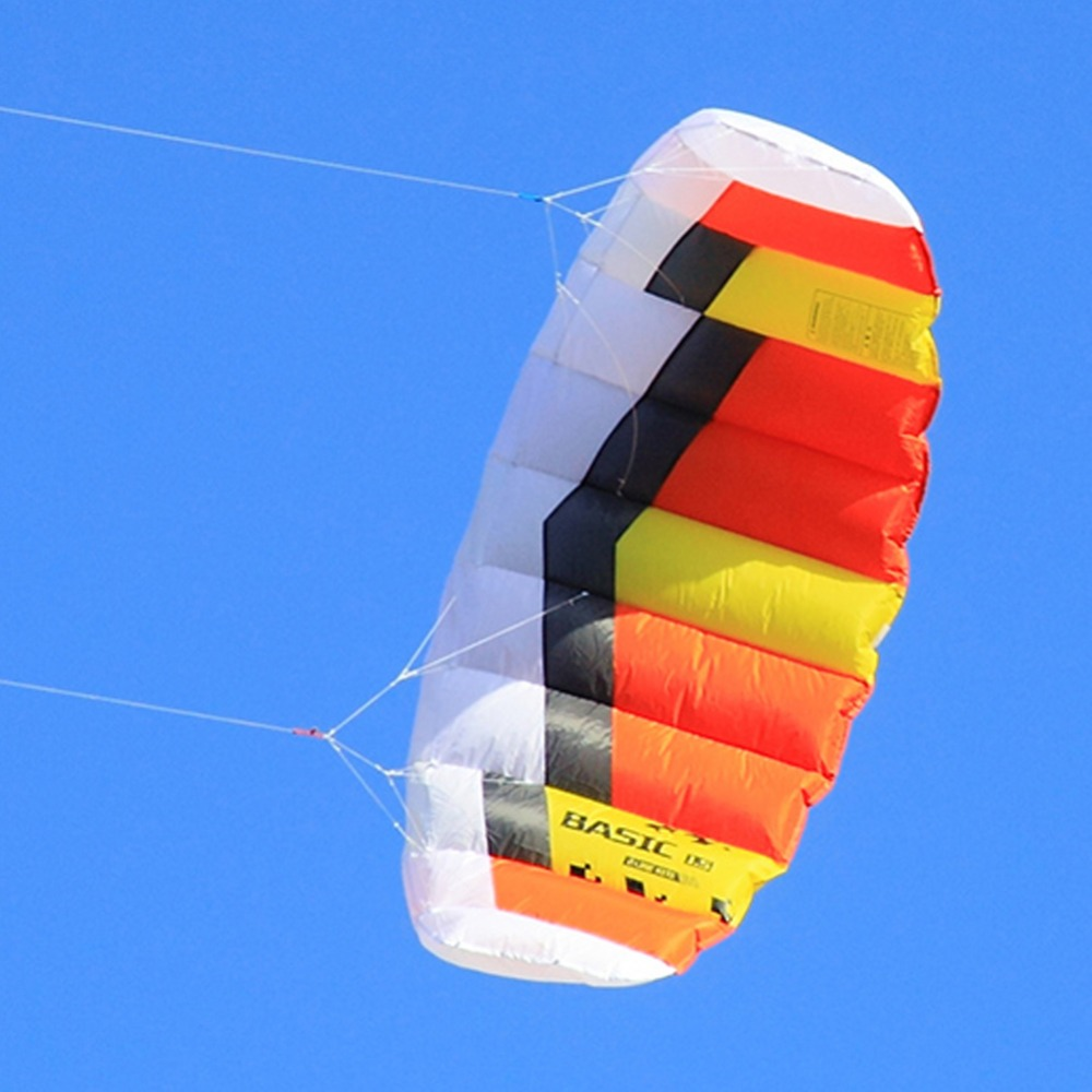 Dual Line Power Kite 0.6sqm Outdoor Sport Stunt Kite Flying With Strap String for Beginner Children