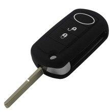 2 шт. 3 Кнопки Перевернуть Складной Силикона Ключеник Fob Обложка для Range Rover Sport Land Rover Discovery с логотипом
