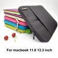 Hot neoprene ultrabook notebook laptop sleeve case bag para apple mac book Pro 13/ar 13 11 polegada Retina13 protetor para macbook