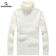 Для мужчин свитер с высоким воротом 65% шерсть контракт моды и для отдыха теплые зимние бренды высокого качества Роскошный свитер черный белый