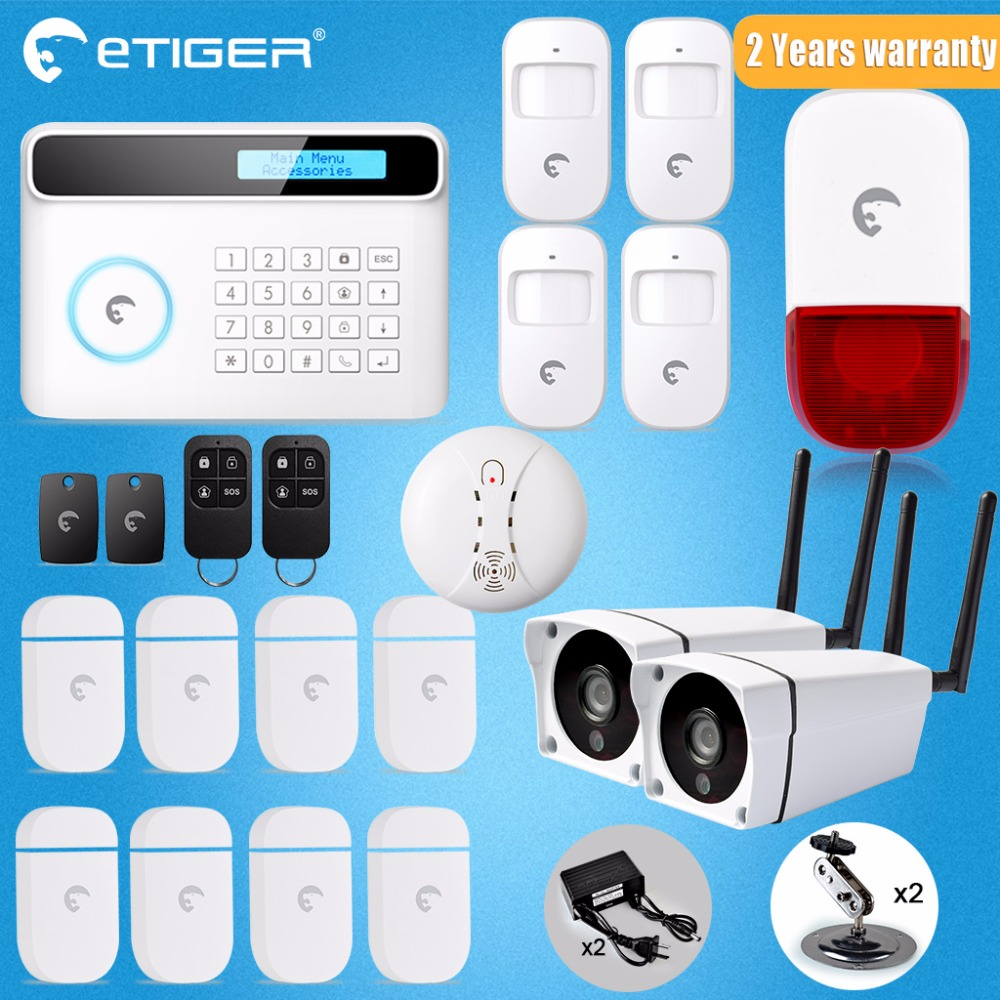 Etiger S4 GSM PSTN Wireless Home Alarm Security System LCD Screen Home Design wireless door pir alarm system gsm home alarm kit sapsan gsm pro 4 эконом gsm сигнализация