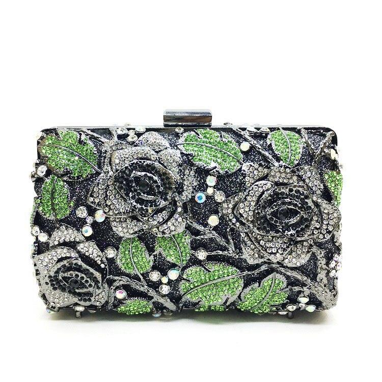 ФОТО Top Grade Rhinestone Evening Clutch Bag Hard Style Makeup Bag Shiny Women Messenger Bag Handbag Clutch Bag