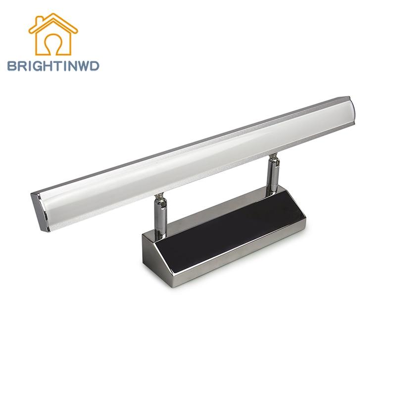 LED Mirror Light 7W 8W 40cm 50cm 110V 220V Modern Cosmetic Stainless Steel Wall lamp Bathroom Lighting modern 8w 720lm 5000k 8 led up