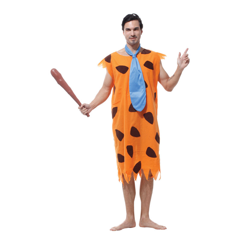 Umorden Purim Carnival Party Halloween Costumes Adult Man Primitive Savages Costume Men Fred Flintstones Stone Age Cosplay