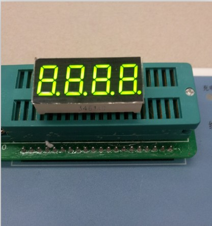 100pcs Common Anode/ Common Cathode 0.36 Inch Digital Tube 4 Bits Digital Tube Led Display 0.36inches Yellow-Green Digital Tube
