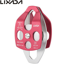 Lixada 30kN Large Aluminum Twin Sheave Pulley Outdoor Tools Climbing Rigging Rescue Outdoor Tools Twin Sheave Pulley gm climbing pulley 32kn ce uiaa large rescue double sheave pulley for tree climbing arborist survival mountaineering equipment