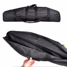 Foldable Multi-purpose Fishing Bags Black Fishing Tackle Bags Storage Pouch Holder Fishing Rod Bags Zipped Bags Case Two Layer