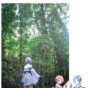 Платье-кимоно VEVEFHUANG Re: Zero kara Hajimeru Isekai Seikatsu Ram Rem, для женщин и девочек, костюм для Хэллоуина